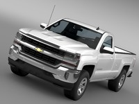 chevrolet silverado lt regular 3d model