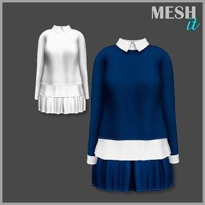 blouse skirt 3d 3ds