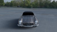 mercedes 300sl roadster hdri 3d model