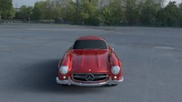 rigged mercedes 300sl w198 obj