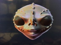 3d model modeled alien head