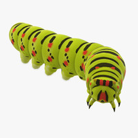 rigged caterpillar 3d model