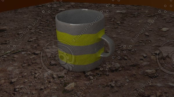 free old mug 3d model