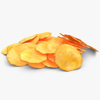 3d realistic potato chip
