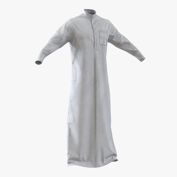 traditional arab men dress 3d model