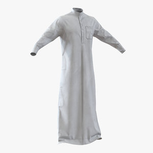 traditional arab men dress 3d model