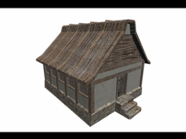 3d model low-poly house games