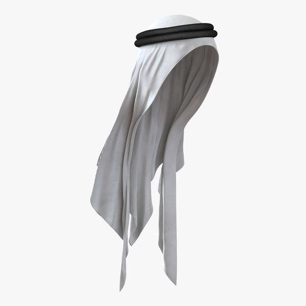 3d traditional arabic hat model