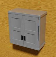 3d model suncast wall mounting cabinet