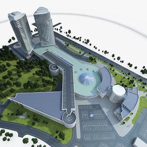 commercial center 3d model