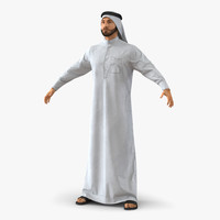 3d model arab man fur