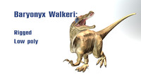 baryonyx walkeri 3d obj