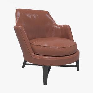 flexform guscio chair 3d max