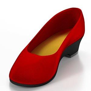 free women work shoes 3d model