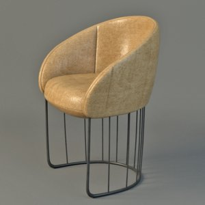 tonella chair 3d max