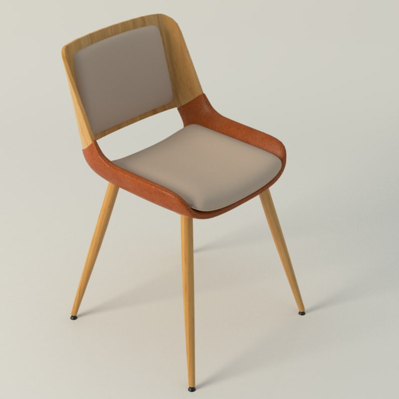 basil leisure chair 3d model