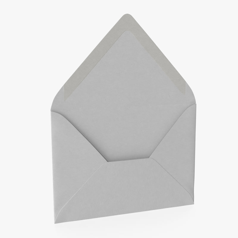 3d max european paper mail envelope