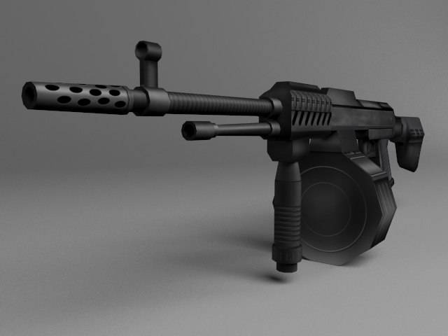 3d model of weapons shooting games