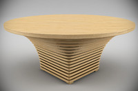 palermo tollgard dining table 3d model