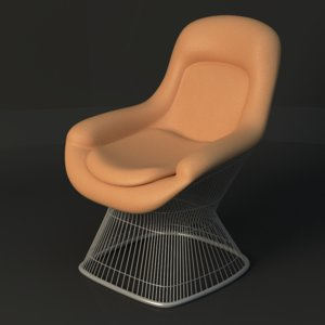 warren platner lounge chair 3d max