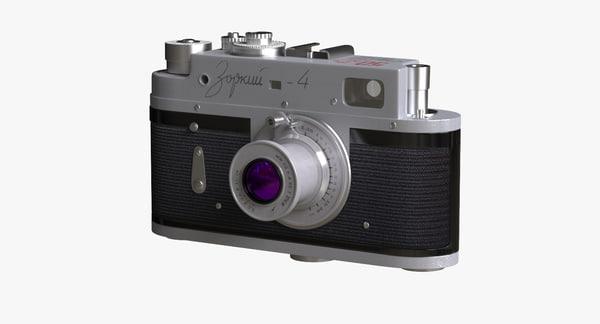 old ussr camera zorki 3d max