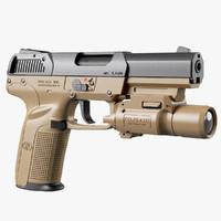 3d max gun fn five-seven