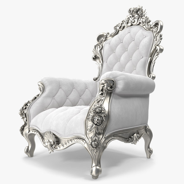3d luxurious armchair model