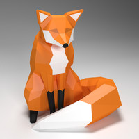 fox low poly style
