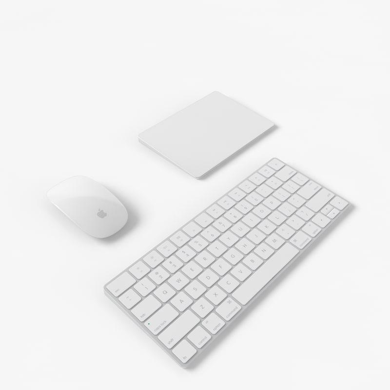 2015 peripheral apple keyboard 3d model