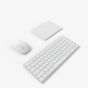 2015 peripheral apple keyboard 3d model