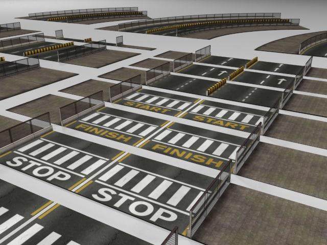3d roads tracks racing games model