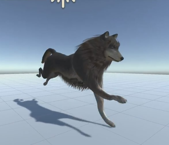 3d ready wolf animations model