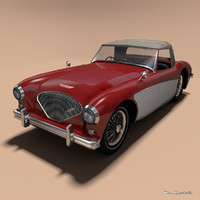 3d model austin healey 100