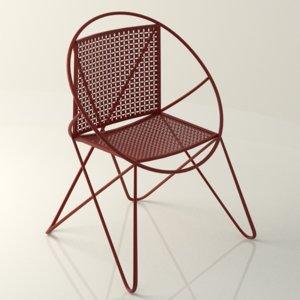 vintage century chair 3d obj