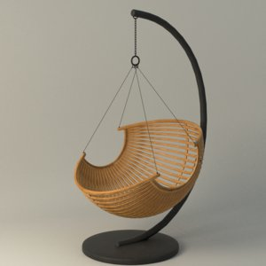 3d ma wood hanging chair