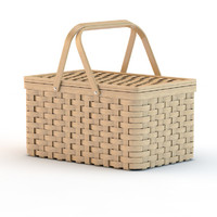 picnic basket 3d model