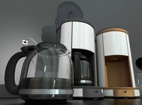 coffee machine rigged 3d model