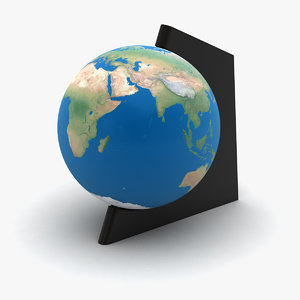 3d model globe rotating
