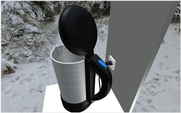 3d model water boiler rigged electric