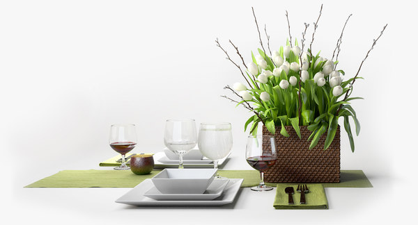 patriciagray flower set centerpiece 3d max
