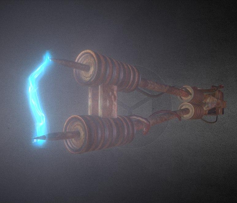 3d model rusty stun spear