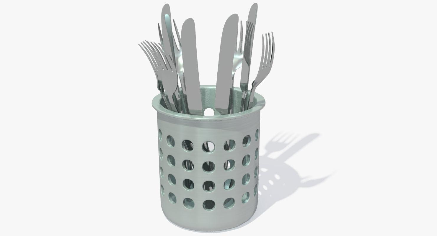 fork knife 3d model