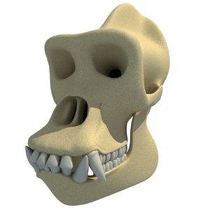 gorilla skull skeleton 3d 3ds