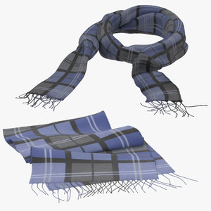 3d scarf 01 poses model