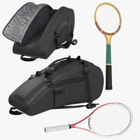 Tennis Rackets and Bag Open and Closed