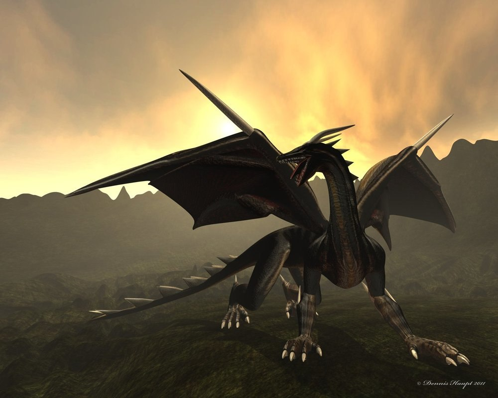 dragon walk run 3d fbx