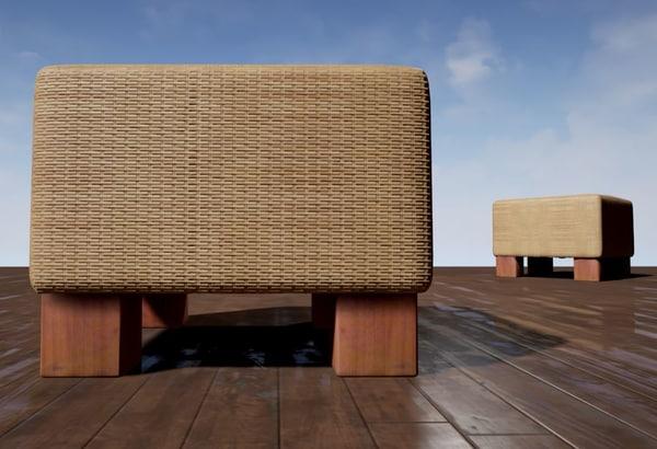 3d basket stool model
