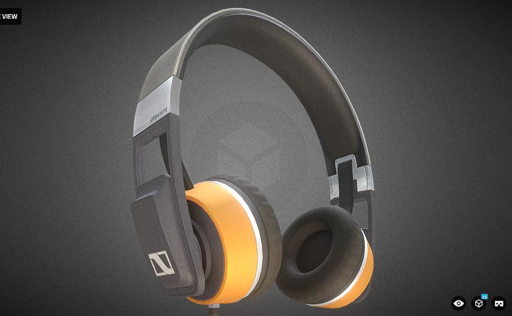 3d headphone sennheiser urbanite