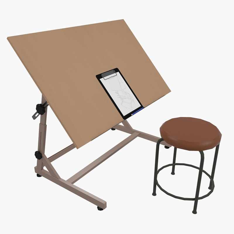 drawing desk chair 3d max