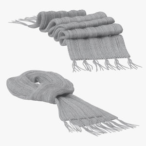 3d model scarf 03 poses